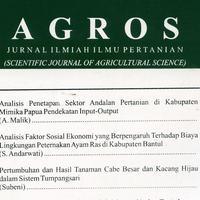 Analisis Swot Jurnal Pertanian Agros Academia Edu