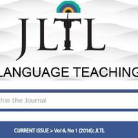 The Journal Of Language Teaching And Learning (JLTL)