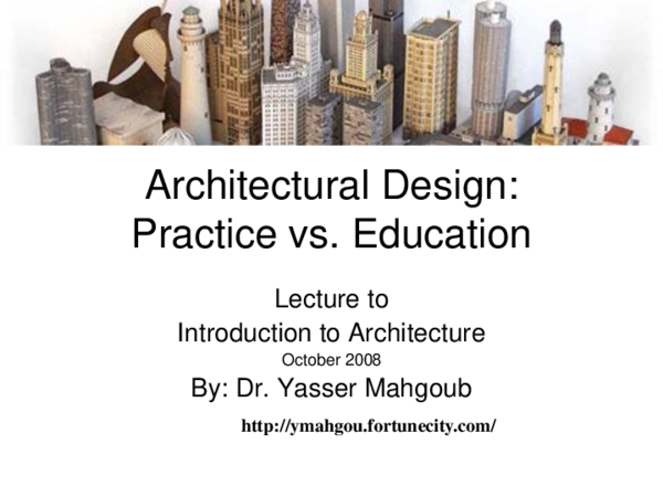 PPT) Introduction to Architectural Design: Practice vs