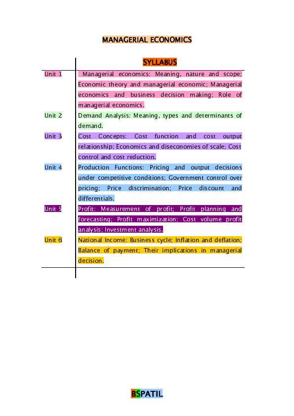 PDF) MANAGERIAL ECONOMICS BOOK @ BEC DOMS BAGALKOT MBA