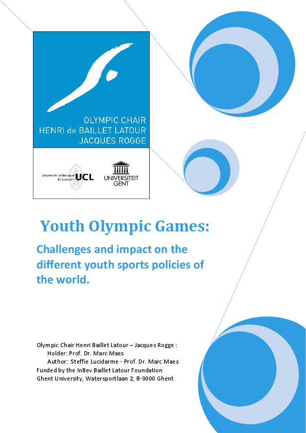 cc54ec52819a Youth Olympic Games  challenges and impact on the different youth ...