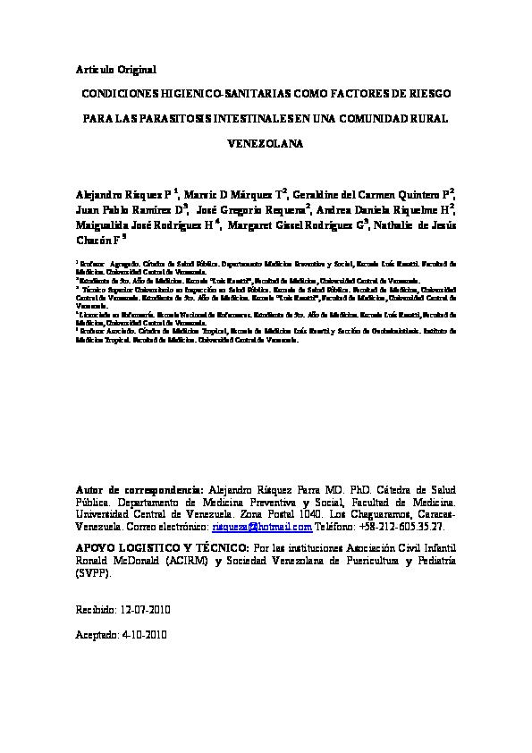 parasitos intestinales pediatria pdf