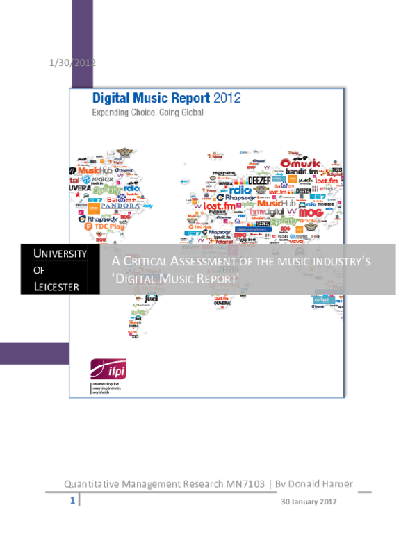 (DOC) A CRITICAL ASSESSMENT OF THE MUSIC INDUSTRY'S ...