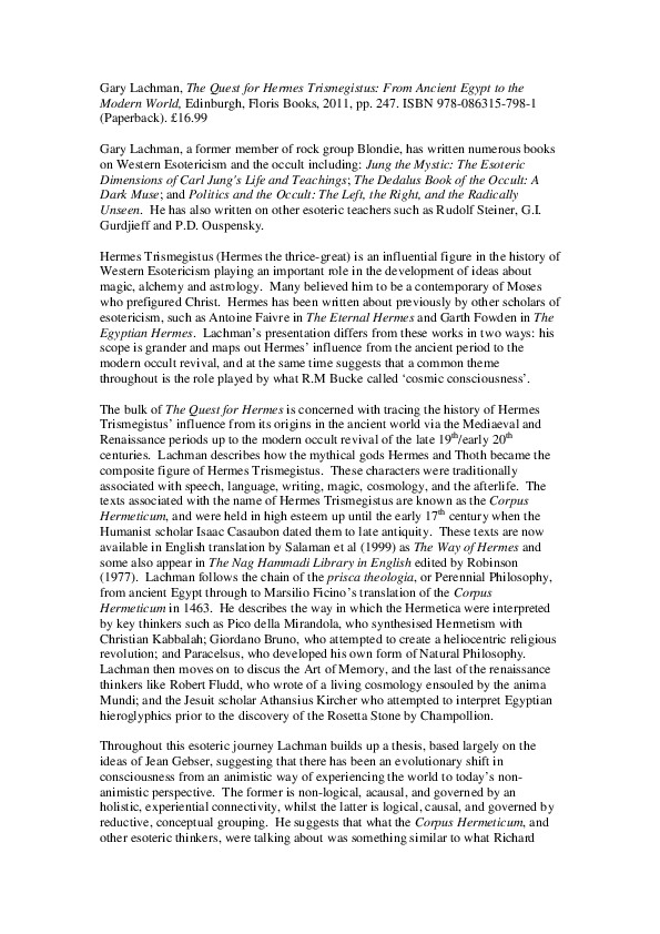 Esoteric Pdf S