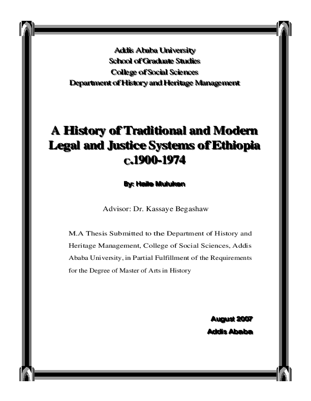 Download Ethiopian Legal Brief Thesis Pdf