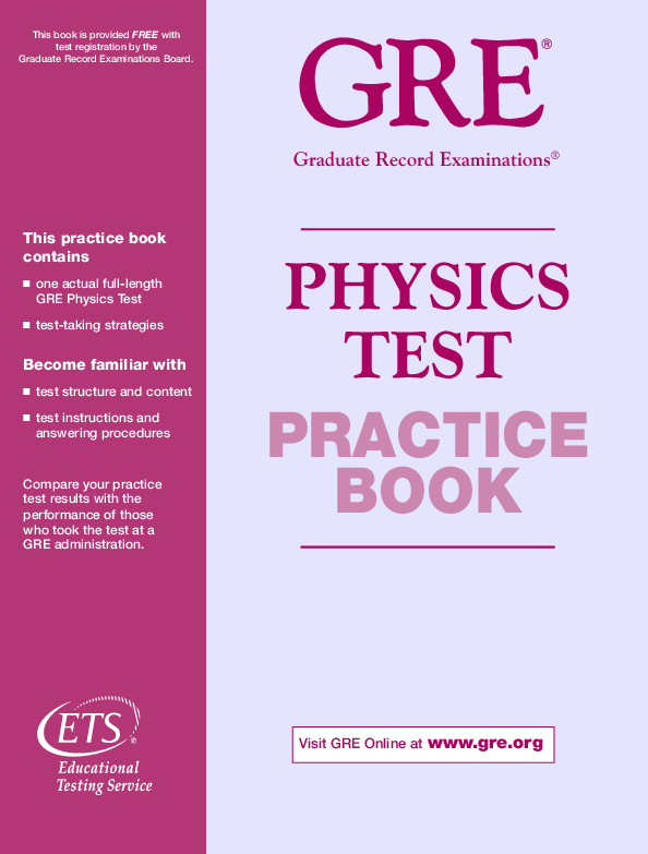 PDF) Past Paper GRE Physics-9677 | Aqeel Ahmed - Academia edu