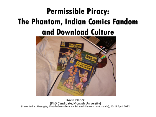 PDF) Permissible Piracy: The Phantom, Indian Comics Fandom and
