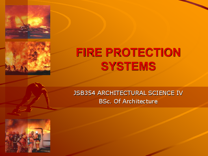 PPT) Fire protection system | Parisa zraati - Academia edu