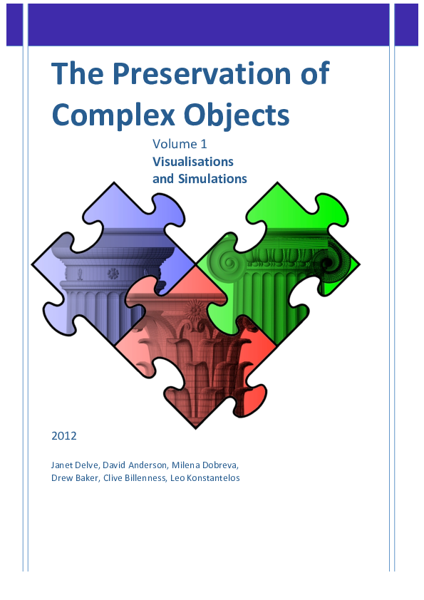 PDF) The Preservation of Complex Objects (Volume 1