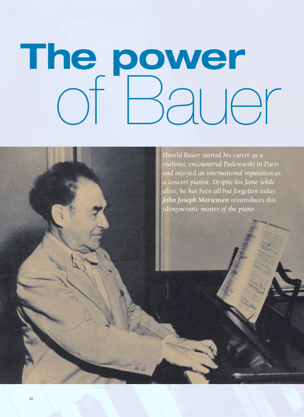 PDF) The Power of Bauer: The LIfe of Pianist Harold Bauer | John