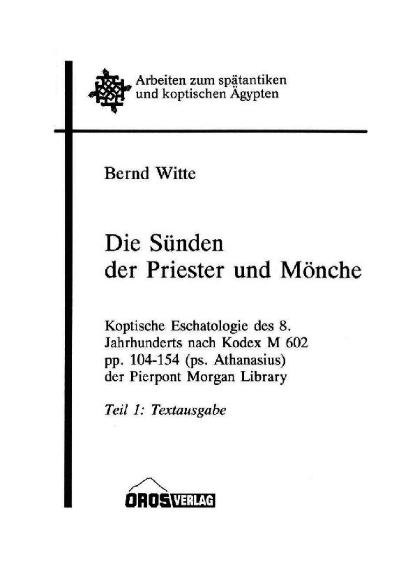PDF) Die Sünden der Priester und Mönche  Koptische
