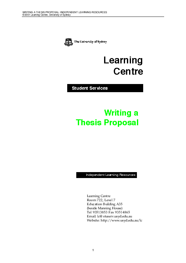 research proposal clearance form usyd
