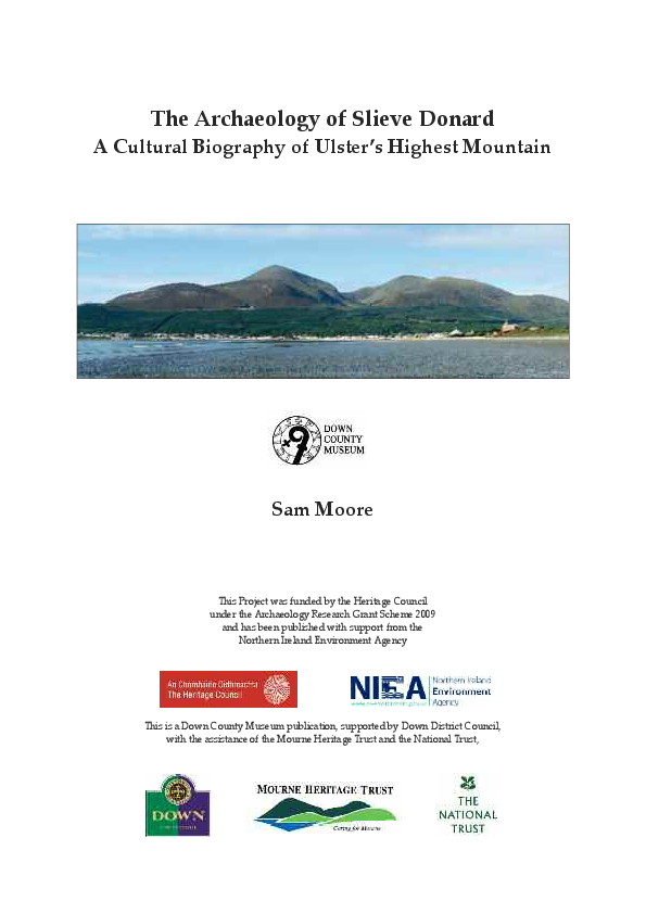 PDF) • The Archaeology of Slieve Donard, Co  Down: A Cultural