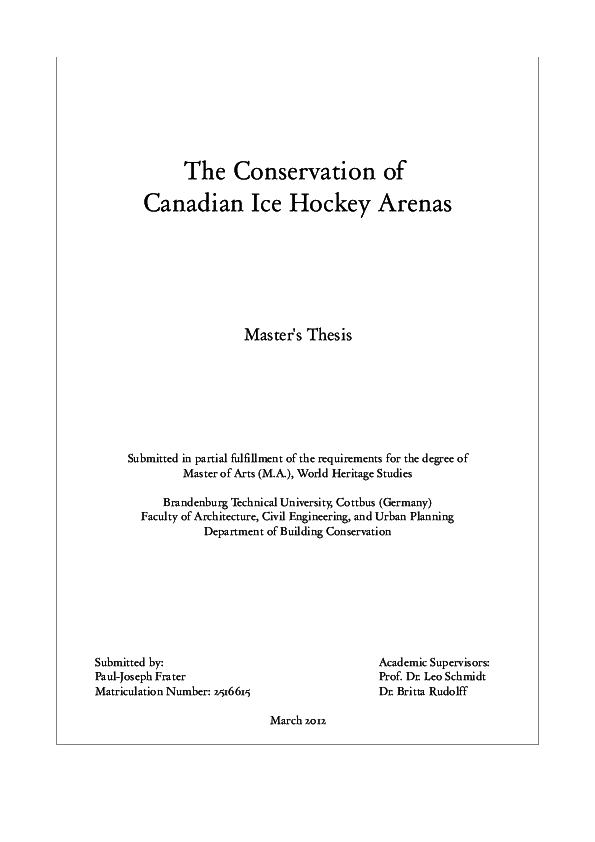Master thesis in canada
