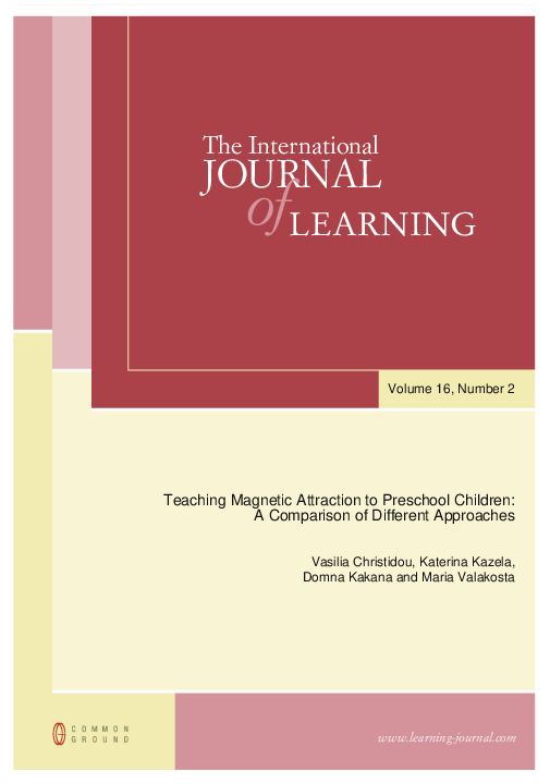 PDF) Teaching Magnetic Attraction to Preschool Children: A