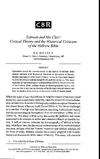 Yahweh In The Bible