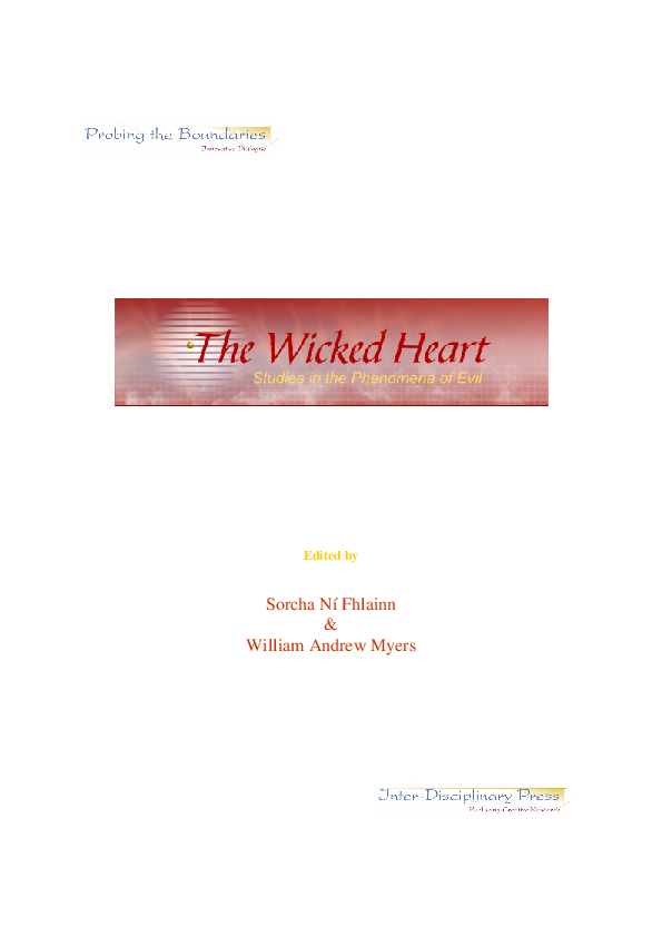 The Wicked Heart Studies In The Phenomena Of Evil Sorcha N