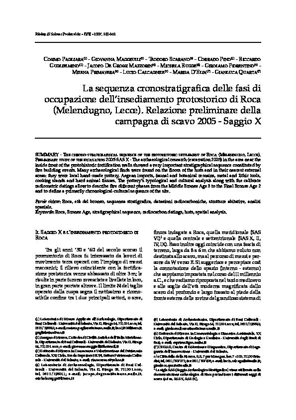PDF) La sequenza cronostratigrafica delle fasi di