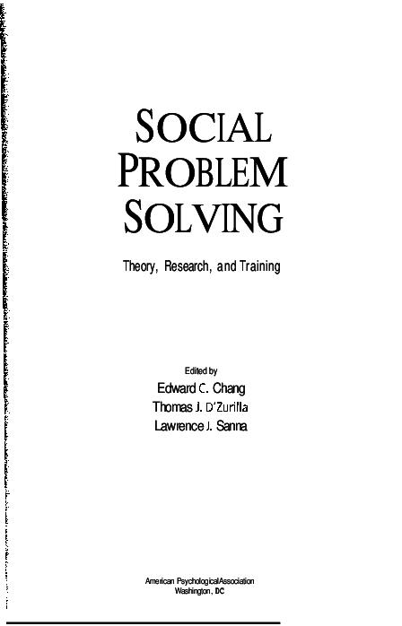 dzurilla problem solving model