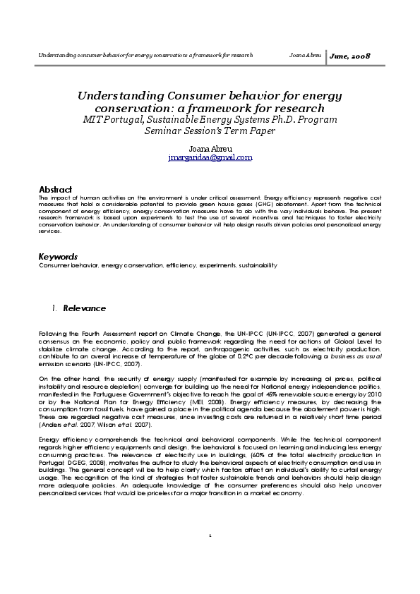 research paper on energy conservation