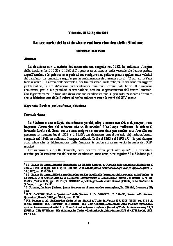 Datazione del radiocarbonio in chimica