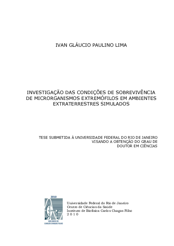 Pdf Investigation Of Survival Conditions Of Extremophilic