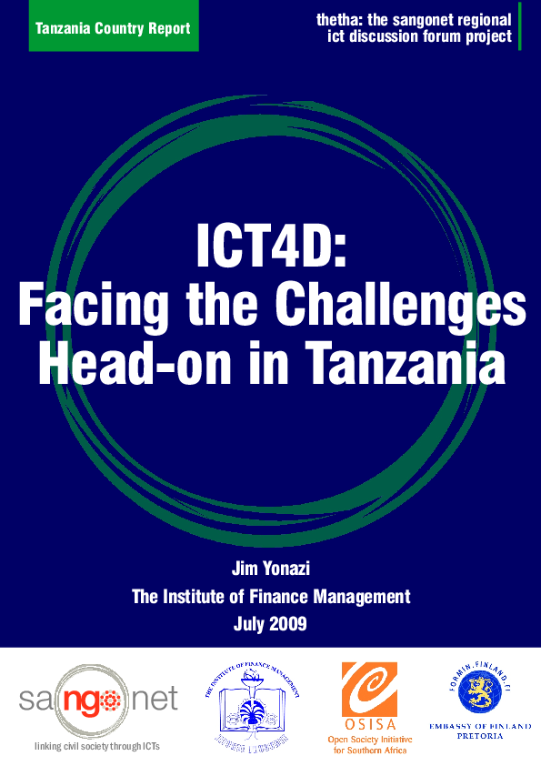 PDF) ICT4D: Facing the Challenges Head-on In Tanzania | Jim