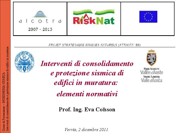 Interventi Di Consolidamento Murature.Pdf Interventi Di Consolidamento E Protezione Sismica Di