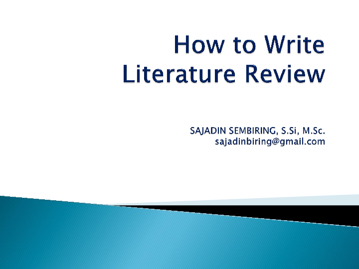 which comes first literature review or methodology
