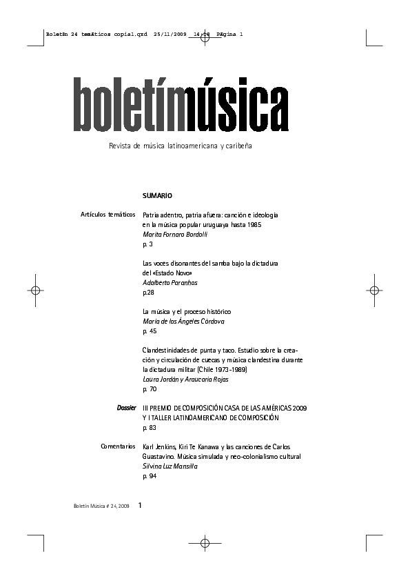 a30651e63 PDF) Clandestinidades de punta y taco. Estudio sobre la creación y ...