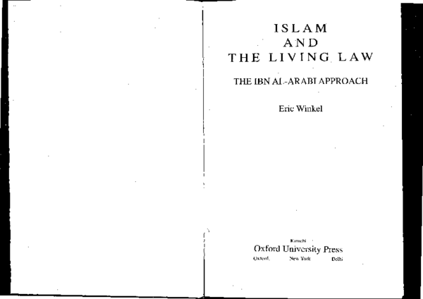 PDF) Islam and the Living Law | Eric Winkel - Academia edu