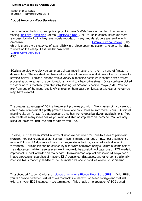 PDF) Amazon Web Services | Doorvasulu Kotrakona - Academia edu