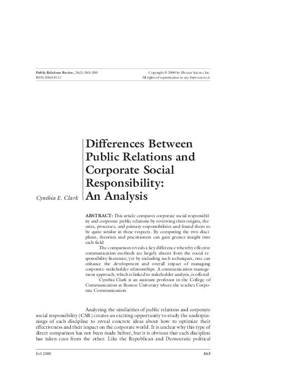 Pdf responsibility corporate social