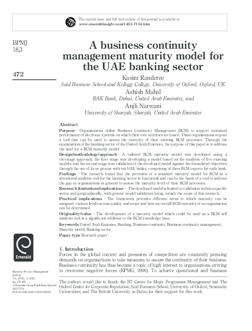 business continuity plan approach