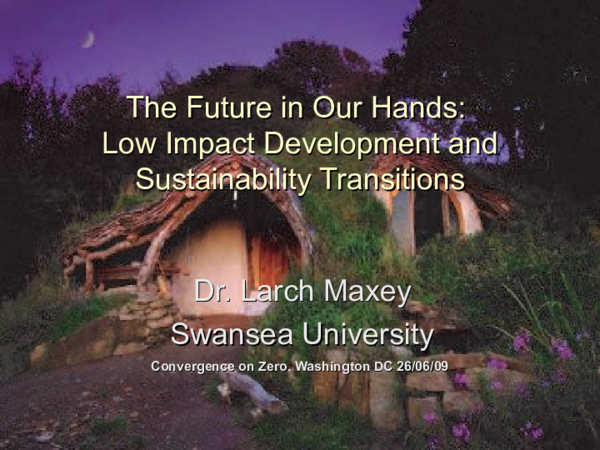 Low Impact Development: The Future in Our Hands