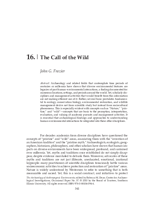Pdf The Call Of The Wild Jack Frazier Academia Edu