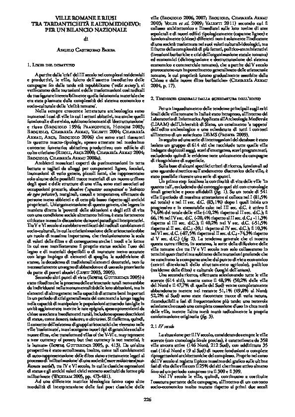 (PDF) Castrorao Barba A. 2012, Ville romane e riusi tra