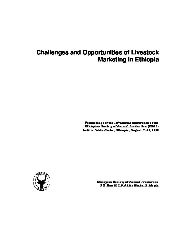 PDF) Ethiopian Society of Animal Production | yosef tadesse