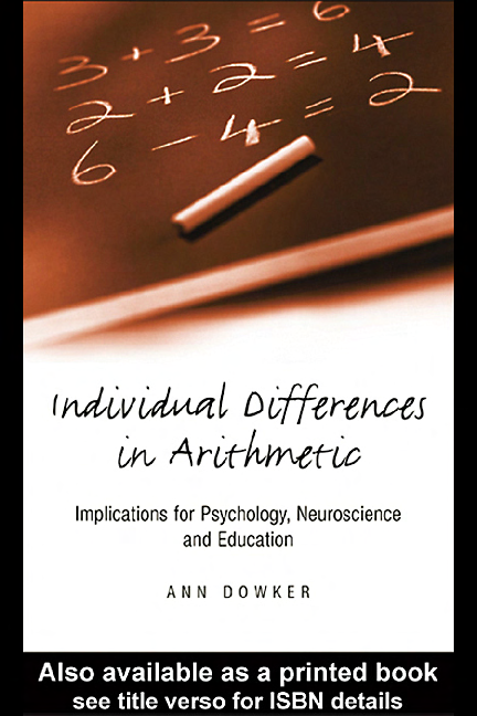 PDF) Individual Differences in Arithmetical Abilities