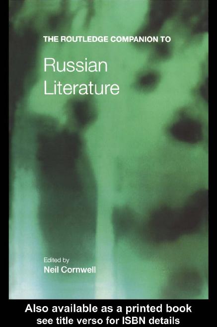 the search for self definition in russian literature thompson ewa m