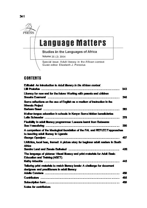"""PDF) Openjuru, G  L  (2004) """"A Comparison of the Ideological"""