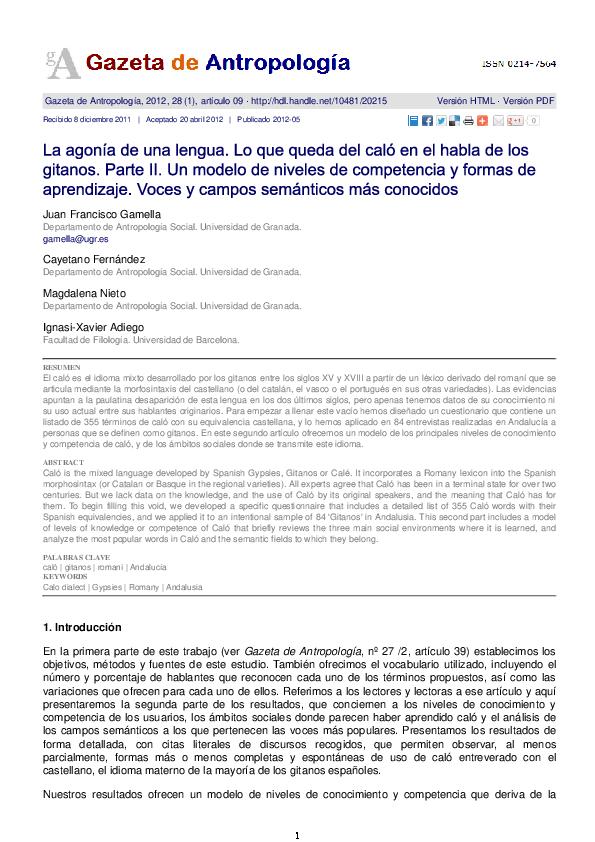 Pdf Juan Francisco Gamella Juan F Gamella Academiaedu