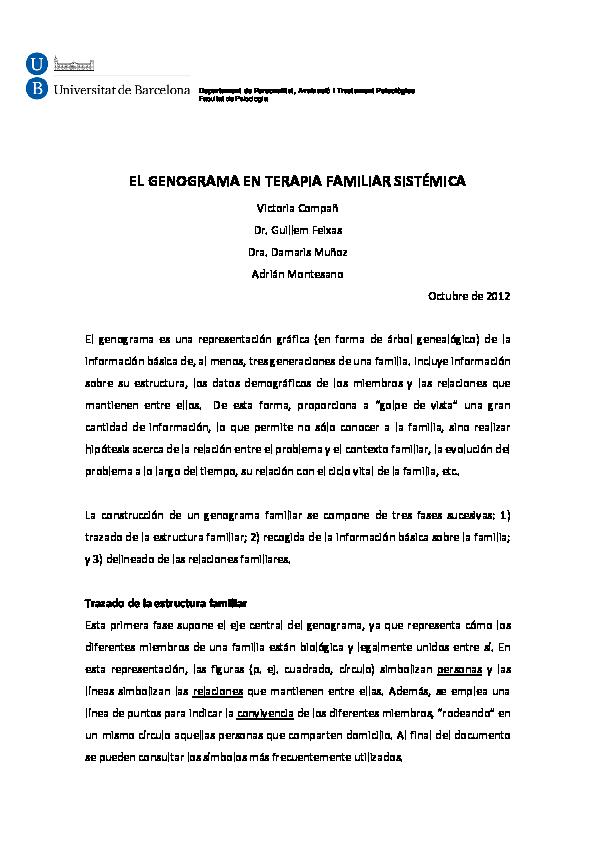 Pdf El Genograma En Terapia Familiar Sistémica Adrian