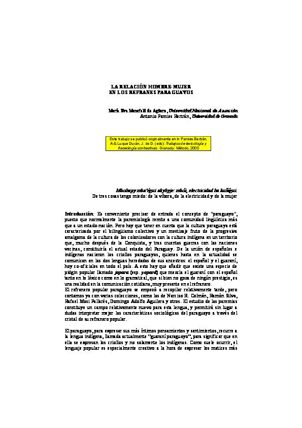 Pdf Mansfeld Mª E Pamies A 2000 La Relación Hombre