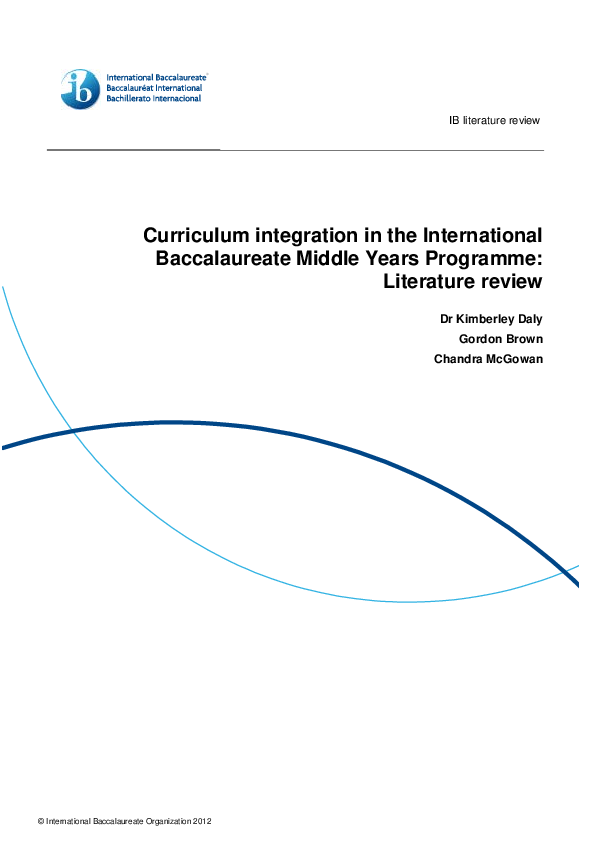 PDF) Curriculum Integration in the International