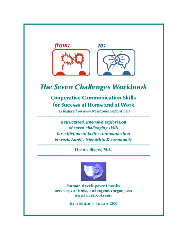 PDF) The Seven Challenges Workbook — Communication Skills