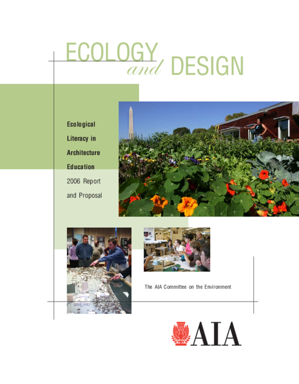 PDF) ECOLOGY AND DESIGN: Ecological Literacy in