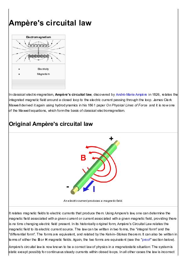 Ampère's circuital law | Paul Muljadi - Academia edu