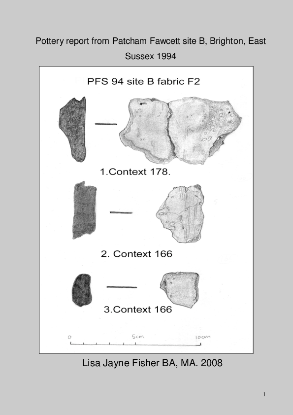 PDF) Pottery report from Patcham Fawcett site B, Brighton, East