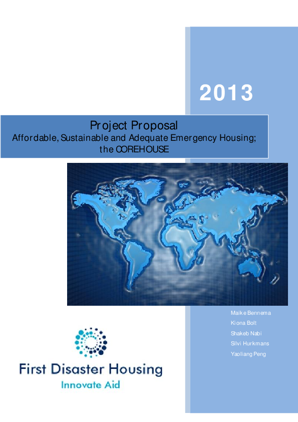 PDF) Project Proposal on Transition Shelter for Cyclone Affected
